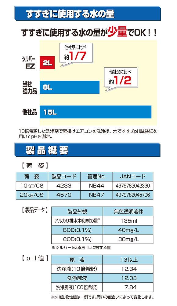 横浜油脂工業(リンダ) シルバーEz(イージー)[10kg] - 専用リンス剤不要のノンリンスタイプアルミフィンクリーナー03