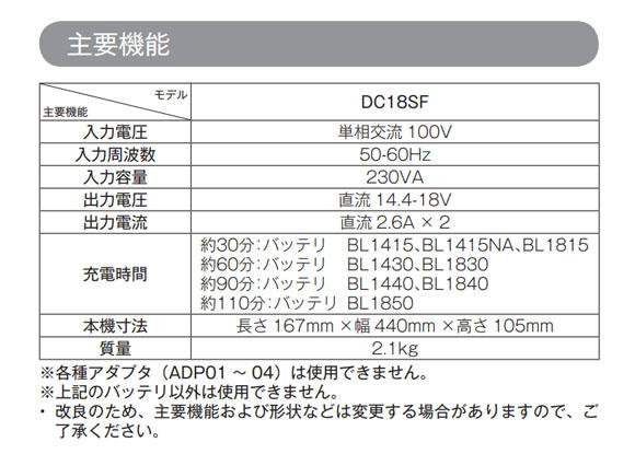 マキタ DC18SF - 4口充電器