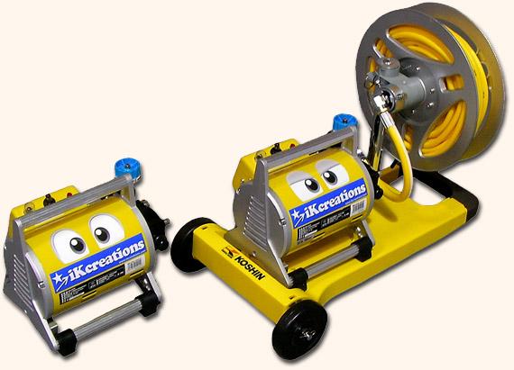 高耐圧・高吐出力洗浄ガン付エアコン洗浄機セット-エクサパワーA/エクサパワーR
