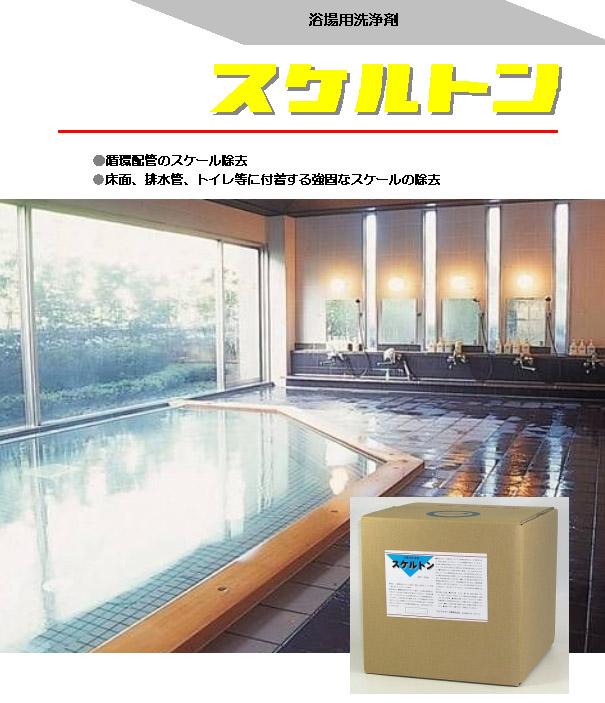 クリアライト工業 スケルトン[20kg/4kg] - 循環配管・床面・排水管用スケール除去剤 01