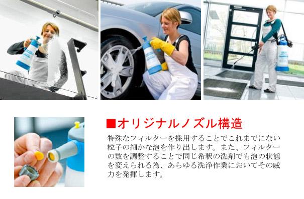 FM10 - 耐酸性・耐アルカリ性・耐油仕様 泡洗浄噴霧器