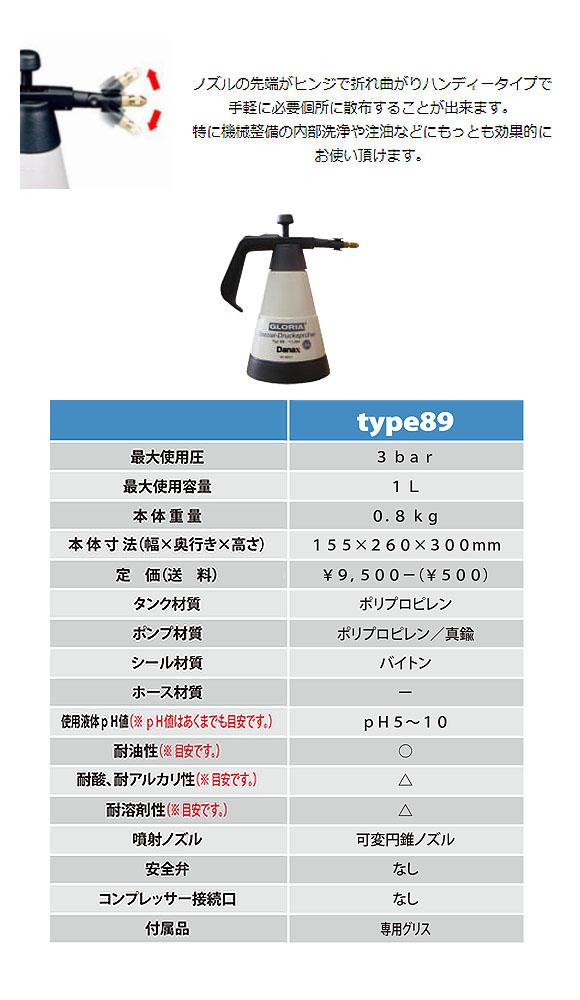 グロリア 蓄圧式噴霧器 type89 - 耐油仕様 01