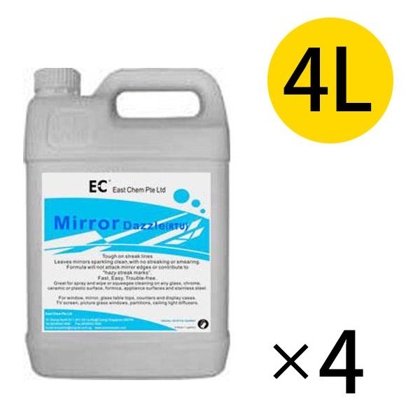イーストケム EC ミラーダズル [4L×4本] - 鏡・ガラス用速乾性洗剤